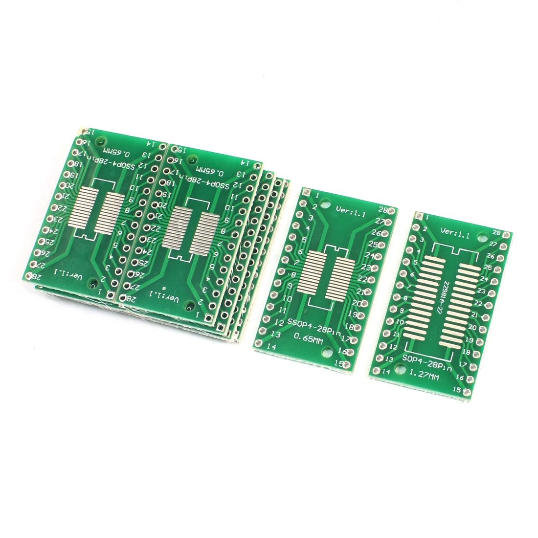 10Pcs SOP28 SSOP28 TSSOP28 0.65mm 1.27mm to DIP28 2.54mm PCB Adapter Converter