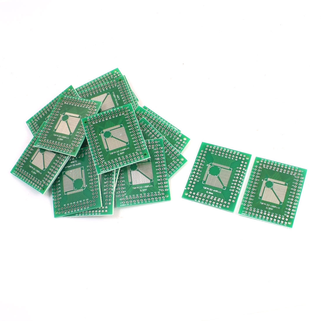 20Pcs 0.5mm 0.8mm TQFP(32-100) to 2.54mm DIP SMD Pinboard IC PCB Adapter Socket