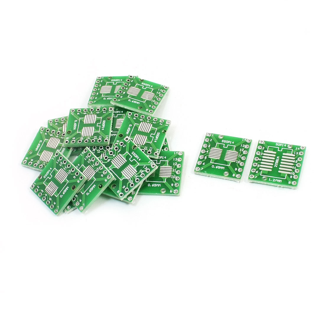 20pcs SMD SOP14 to DIP14 1.27/0.65mm Adapter PCB Converter Plates