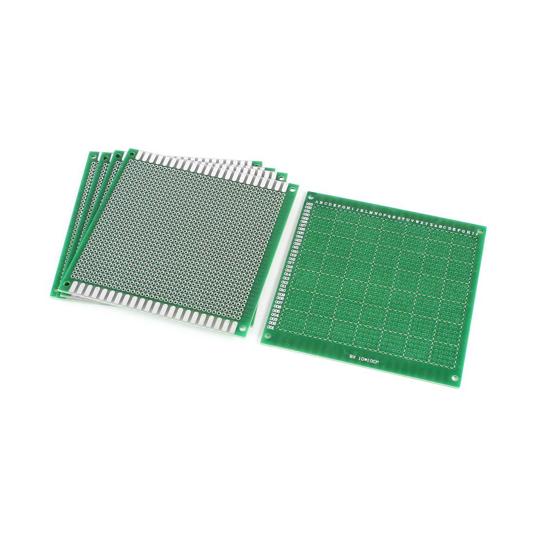 5 PCS 10cm x 10cm Green FR-4 One Side Prototypinge Paper DIY Universal PCB Print Circuit Board