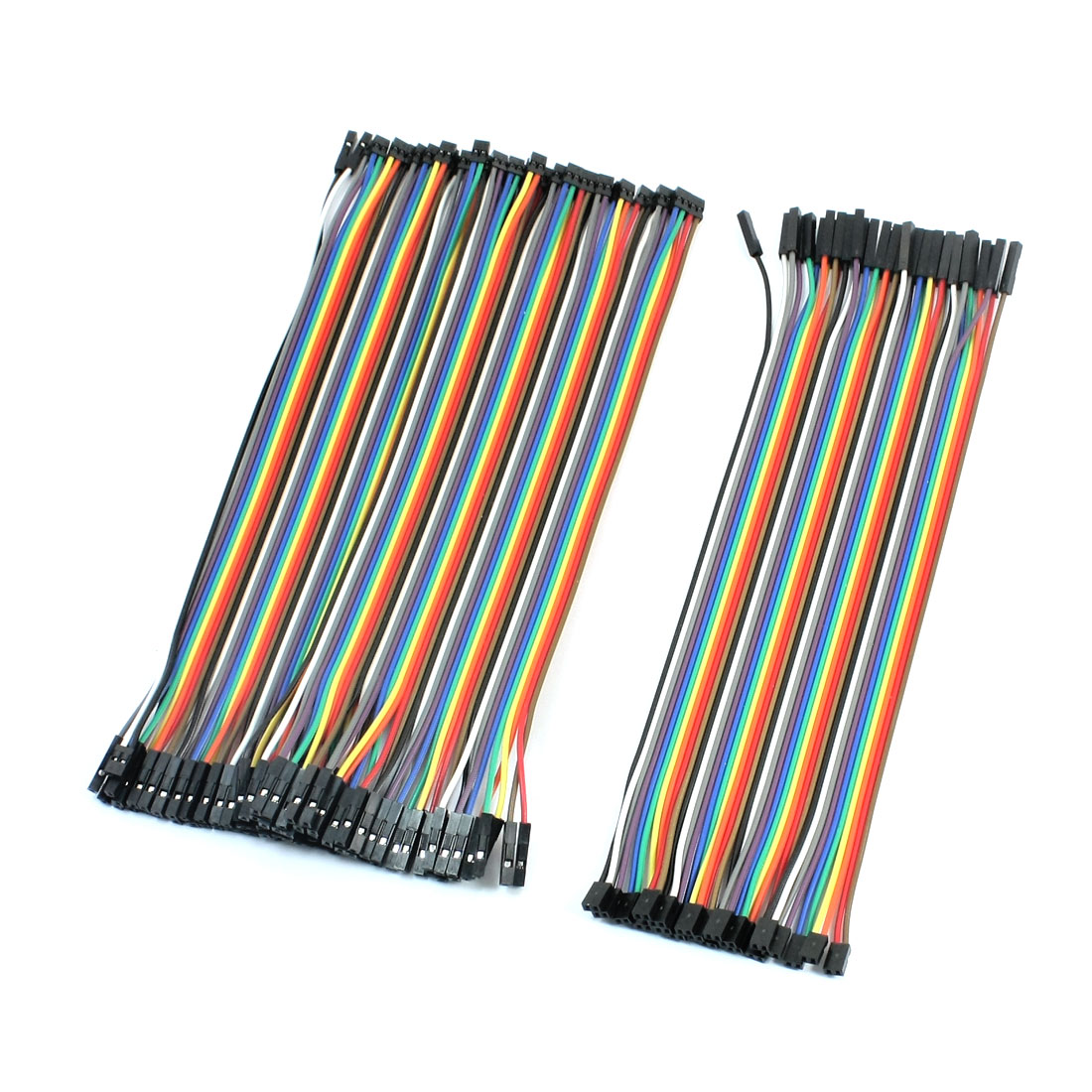 60pcs Multicolor Jumper Wire Line 2.0mm to 2.54mm Female Connector 20cm