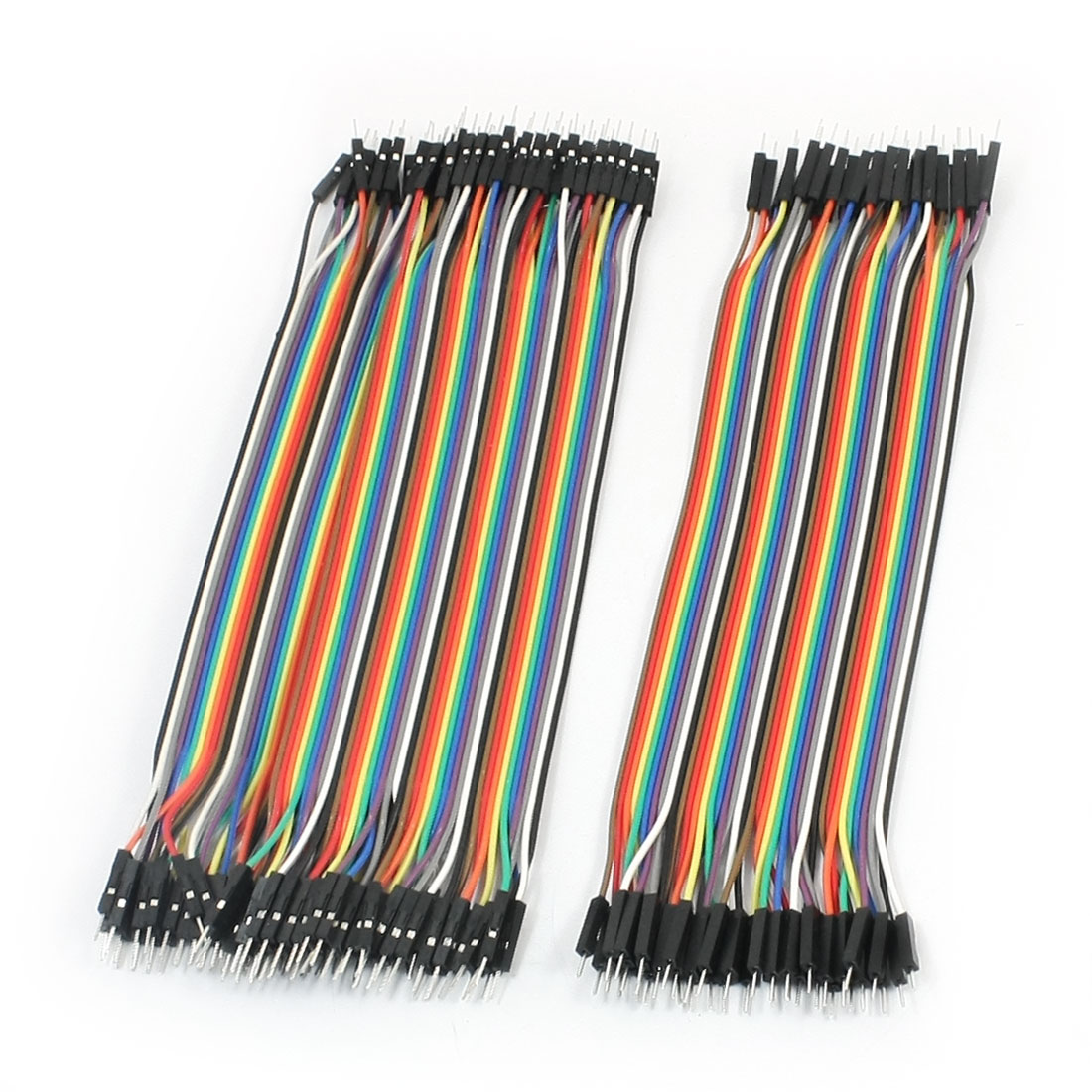 120Pcs 1 Pin Male to Male Jumper Cable Wires 22cm Long Colorful