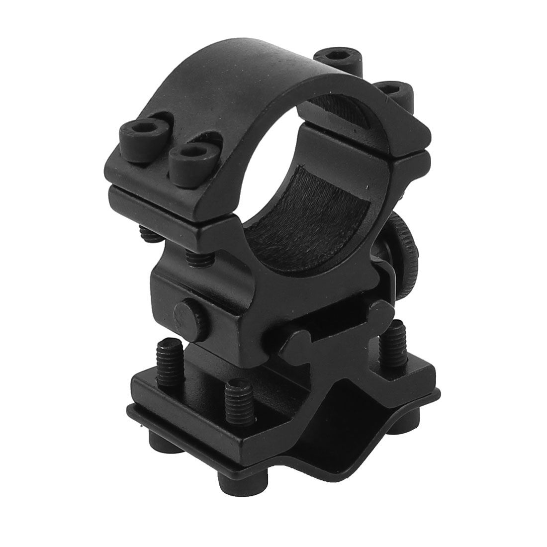 Black LED Flashlight Torch Mount Alloy Holder Clip w Hex Key