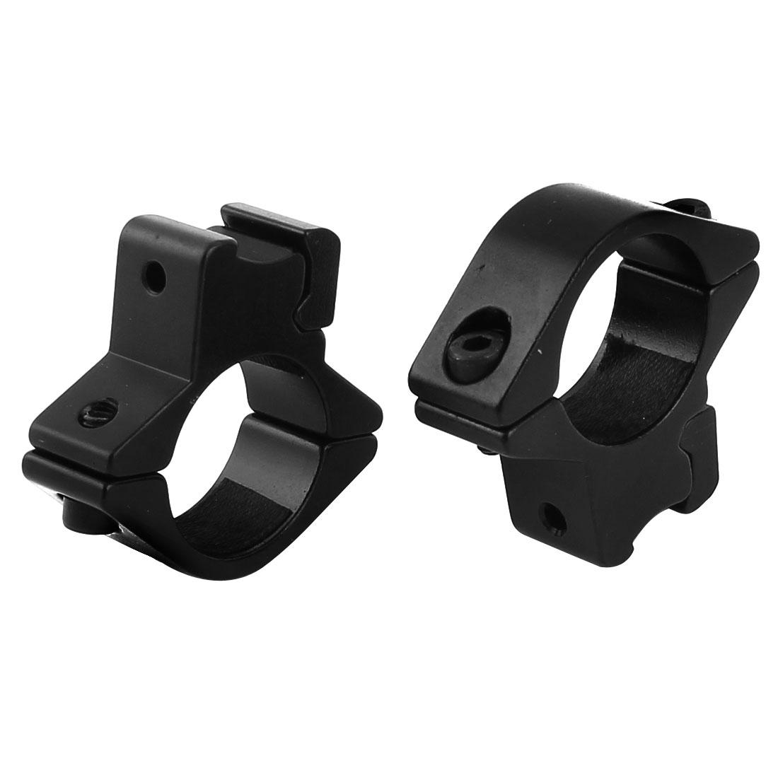2 Pcs Gun Optical Sight Flashlight Mount Holder Aluminum Clip Clamp Black