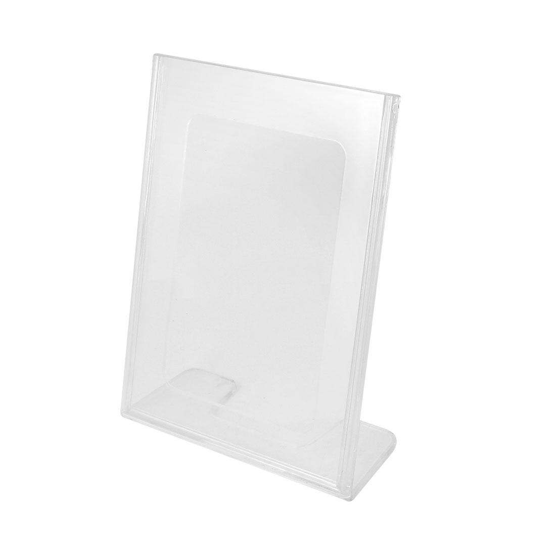 Table Card Display Vertical Cards Holder Plastic Meeting Card Stand Clear