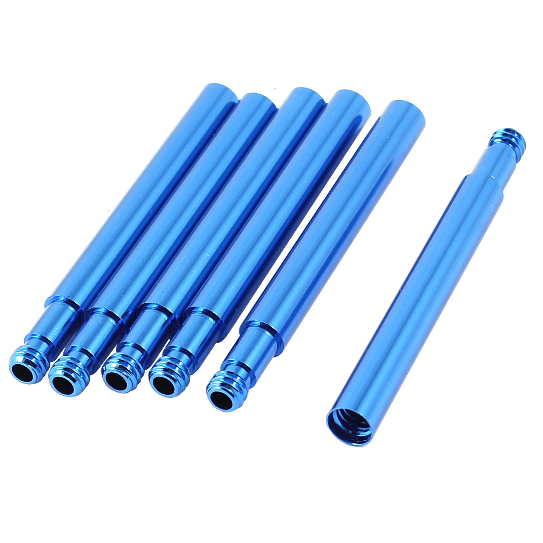 6 Pcs Presta French Type Mountain Bike Extension Valve Fittings Blue