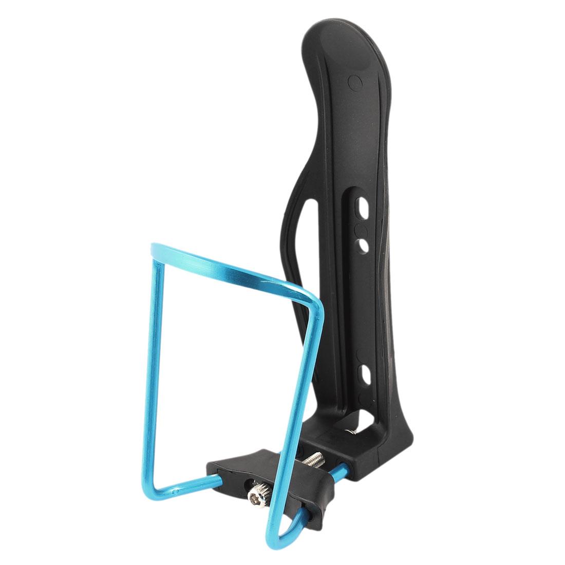 Cycling Bike Adjustable Black Blue Water Bottle Holder Cage