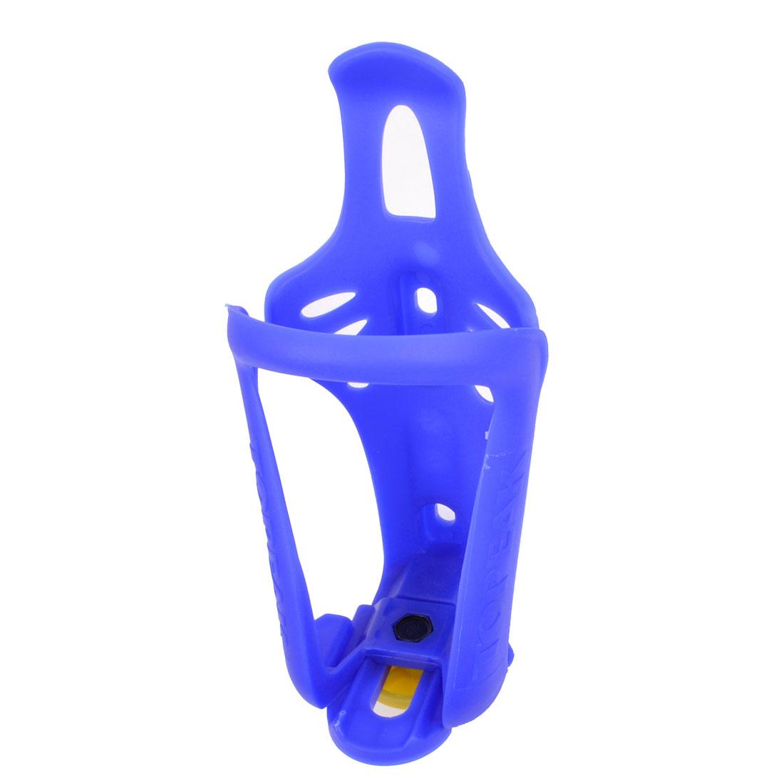 Bike Bicycle Motorcycle Blue Plastic Adjustable Water Drink Bottle Rack Holder
