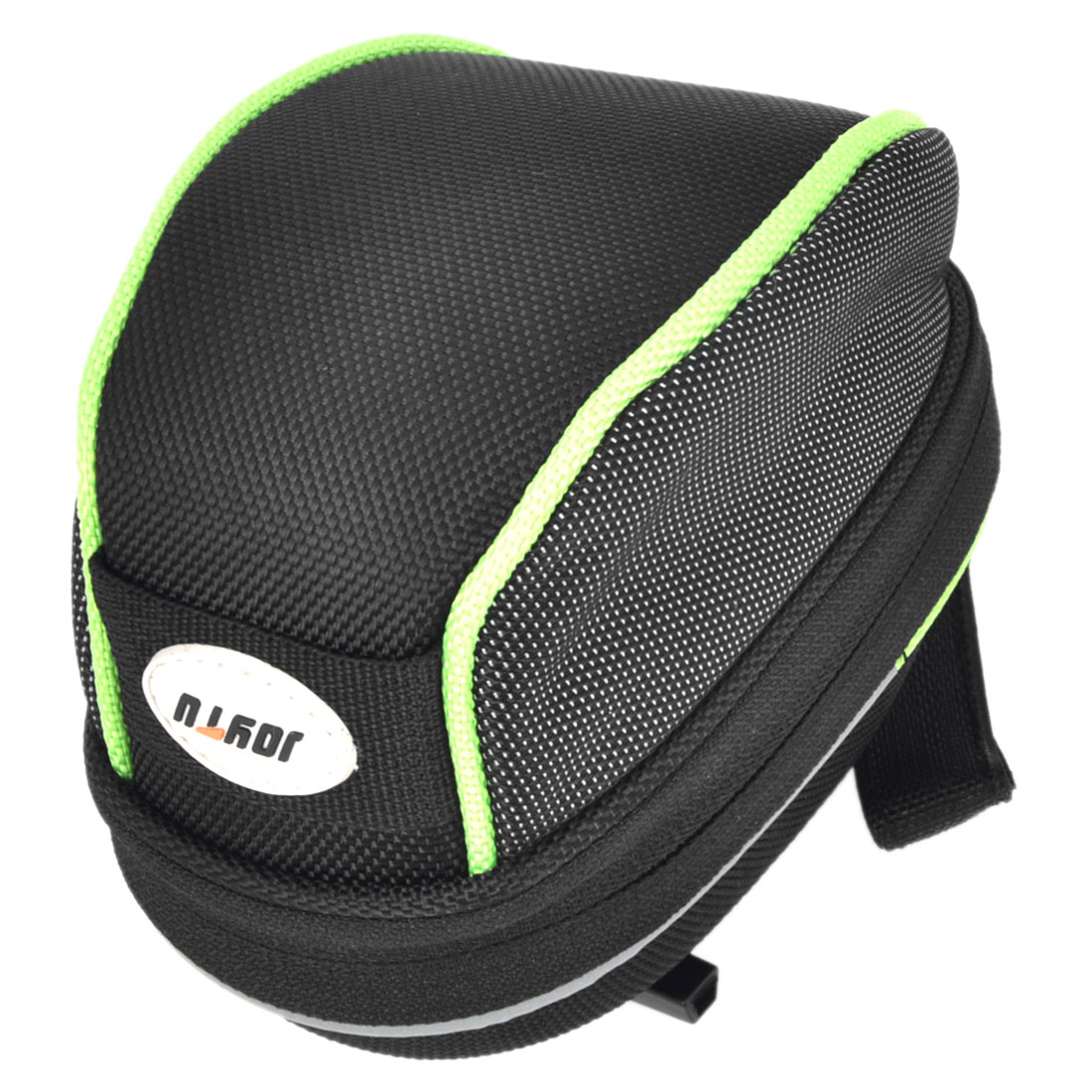 Mountain Bike Black Green Nylon Saddle Pannier Seat Rear Zipper Bag Pouch