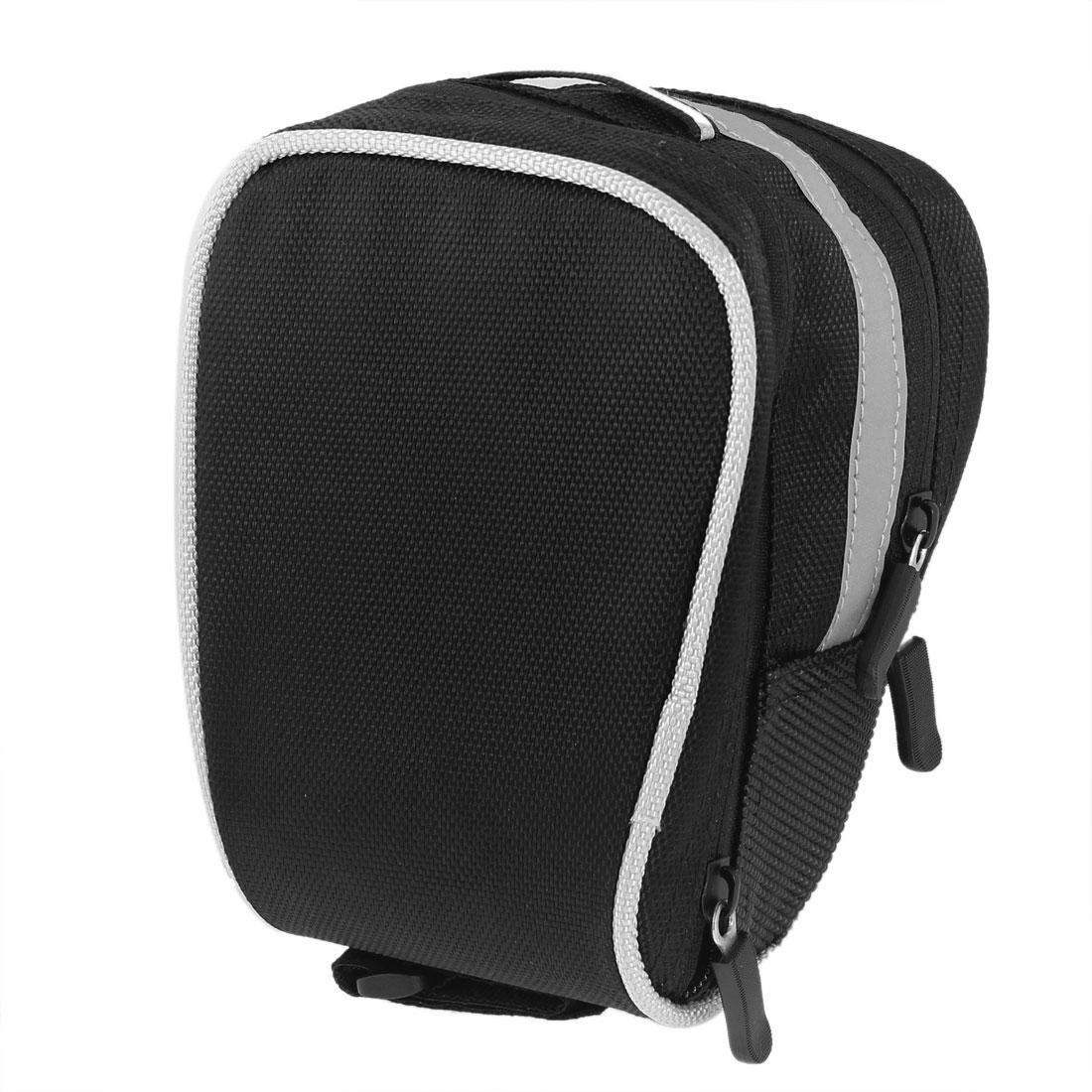 """Bike Cycling Saddle Seat Rear Tail Bag Pouch 7"""" Length Black Gray"""