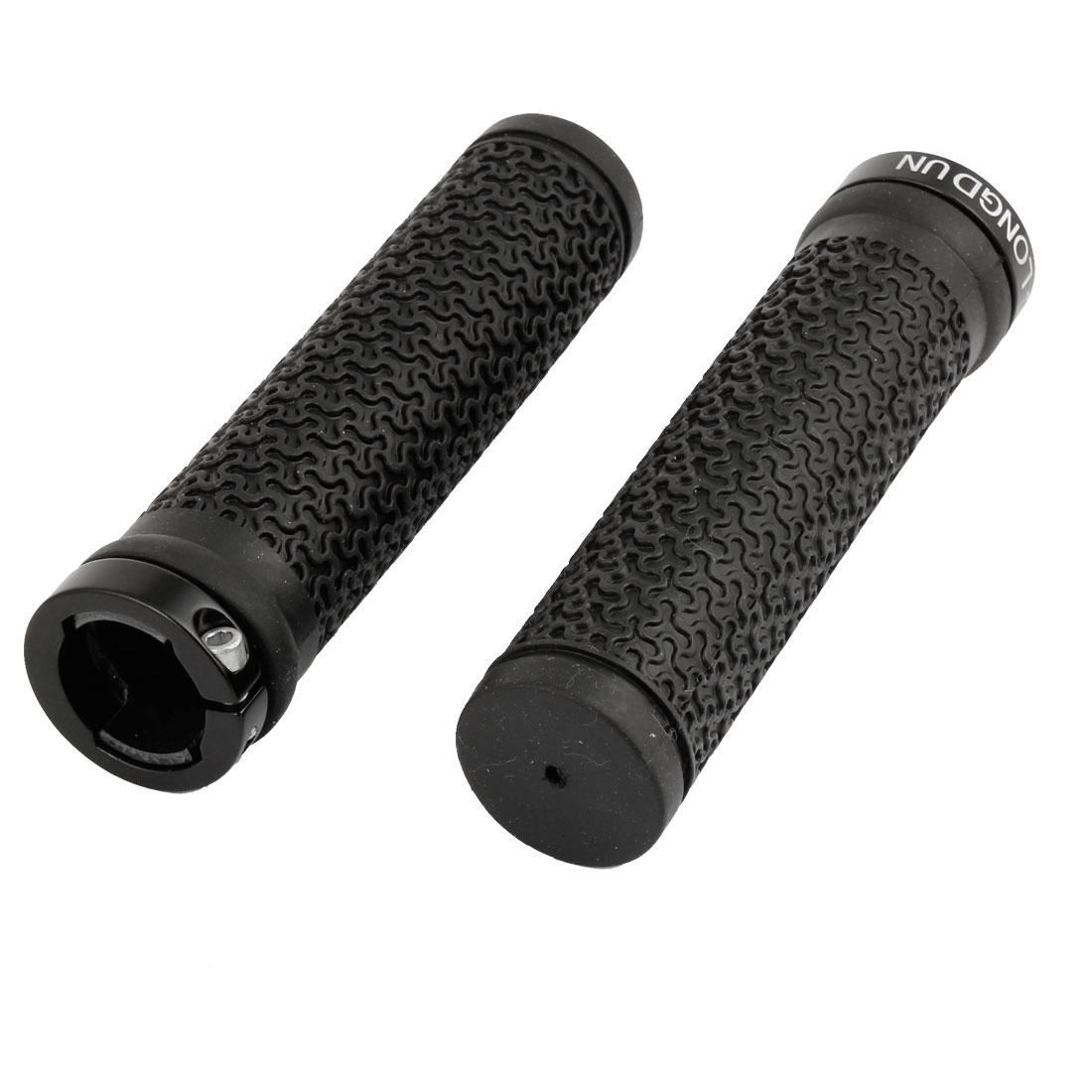 2 Pcs Black Non-slip Rubber Handlebar Grip Cover for Bike Bicycle