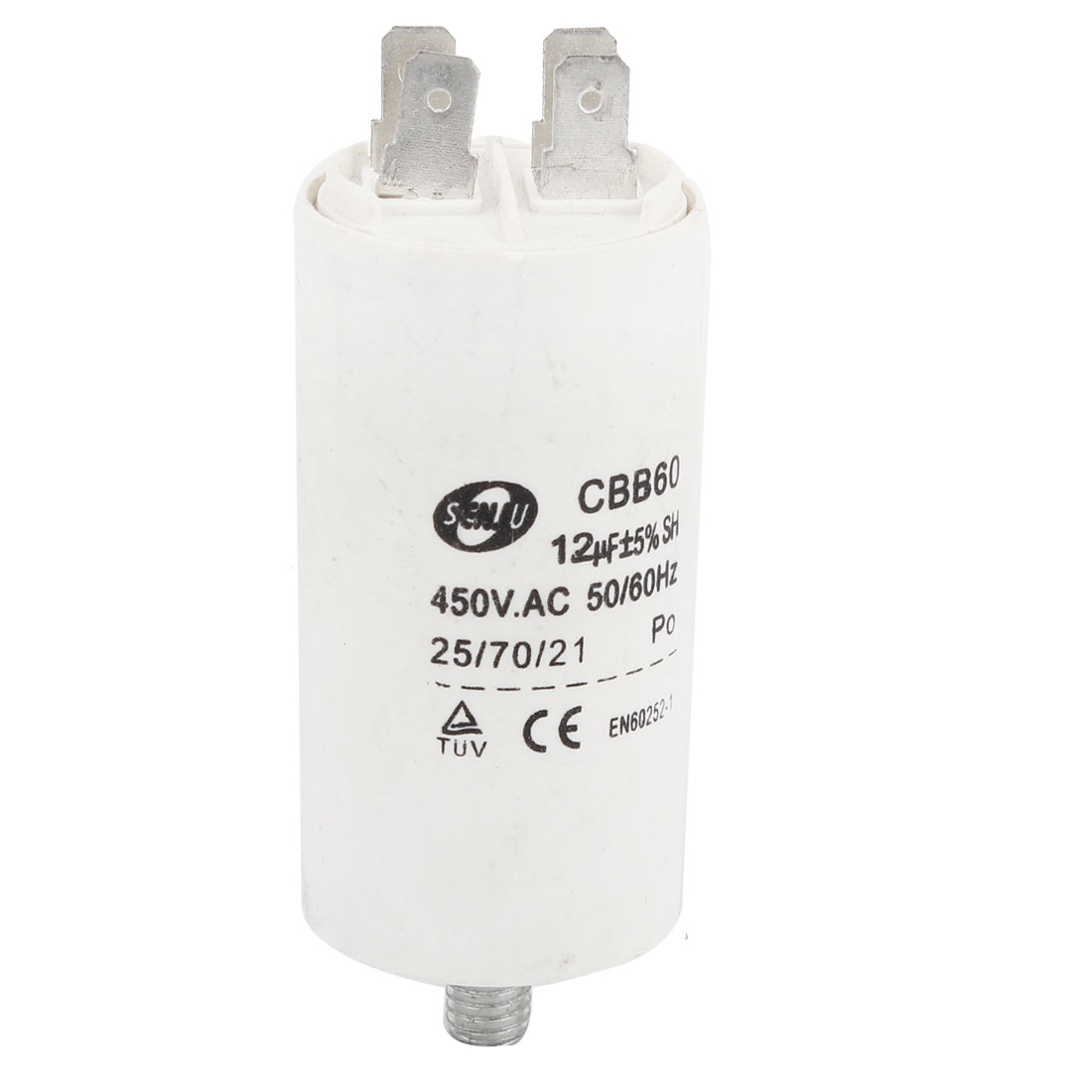 Washing Machine CBB60 12uF AC 450V Non Polar Motor Run Capacitor White