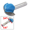 "Woodworking Tool Straight Round Nose Router Bit 3/4"" Cutting Diameter"