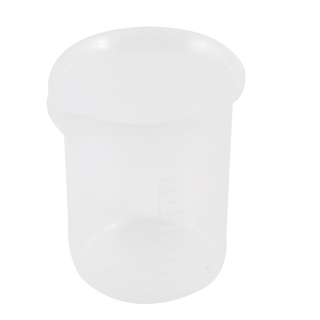Laboratory Clear White Plastic Water Liquid Measuring Cup Beaker 50mL