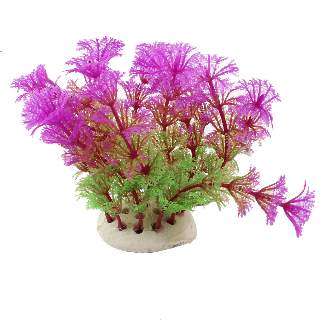 Fish Tank Aquarium Decor Green Fuchsia Emulational Plastic Vivid Grass 11cm High