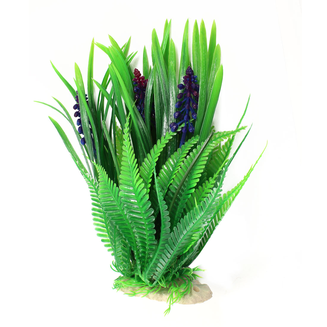 Aquarium Decoration Green Emulational Plastic Grass Plant 23cm High