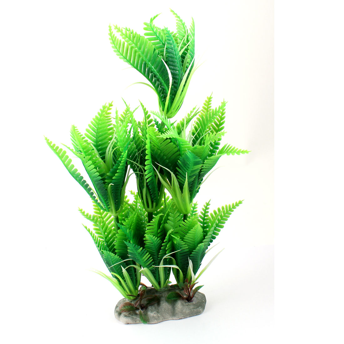 Fish Tank Aquarium Decor Green Emulational Plastic Aquatic Plant 28cm High