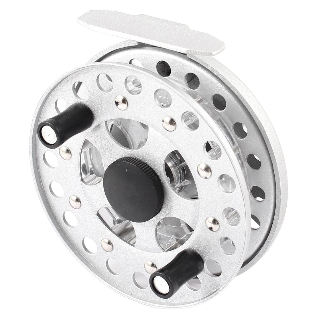 Silver Tone Metal Fishing Line Trolling Reel Spool 10cm Dia