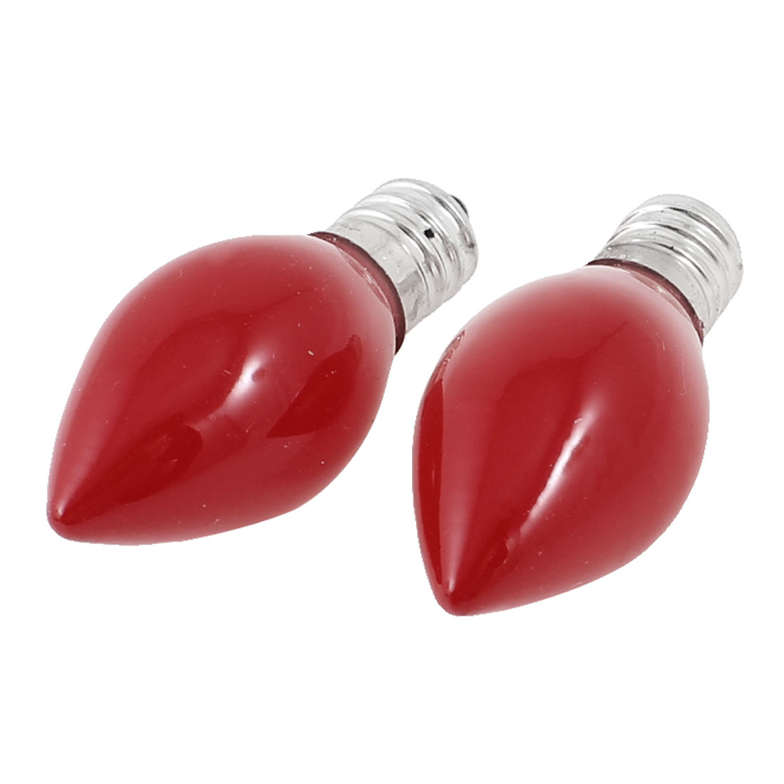 2 Pcs AC 220-240V 7W E12 Socket Base Energy Saving LED Red Candle Light Bulb Lamp
