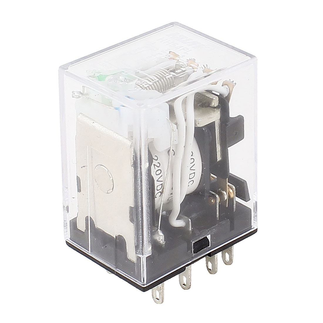 HH54PL DC 220V Coil 4P2T Green LED Lamp Light General Purpose Power Relay