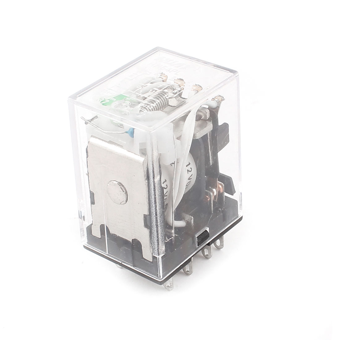 HH54PL DC 12V Coil 4PDT Green LED Lamp Light General Purpose Power Relay