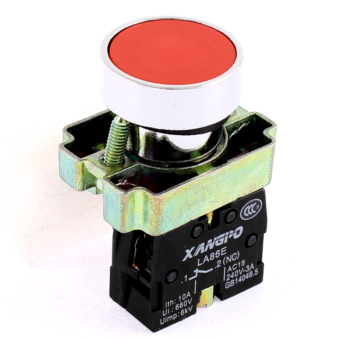 660V 10A 2 Terminal Self-locking NC Emergency Stop Push Button Switch