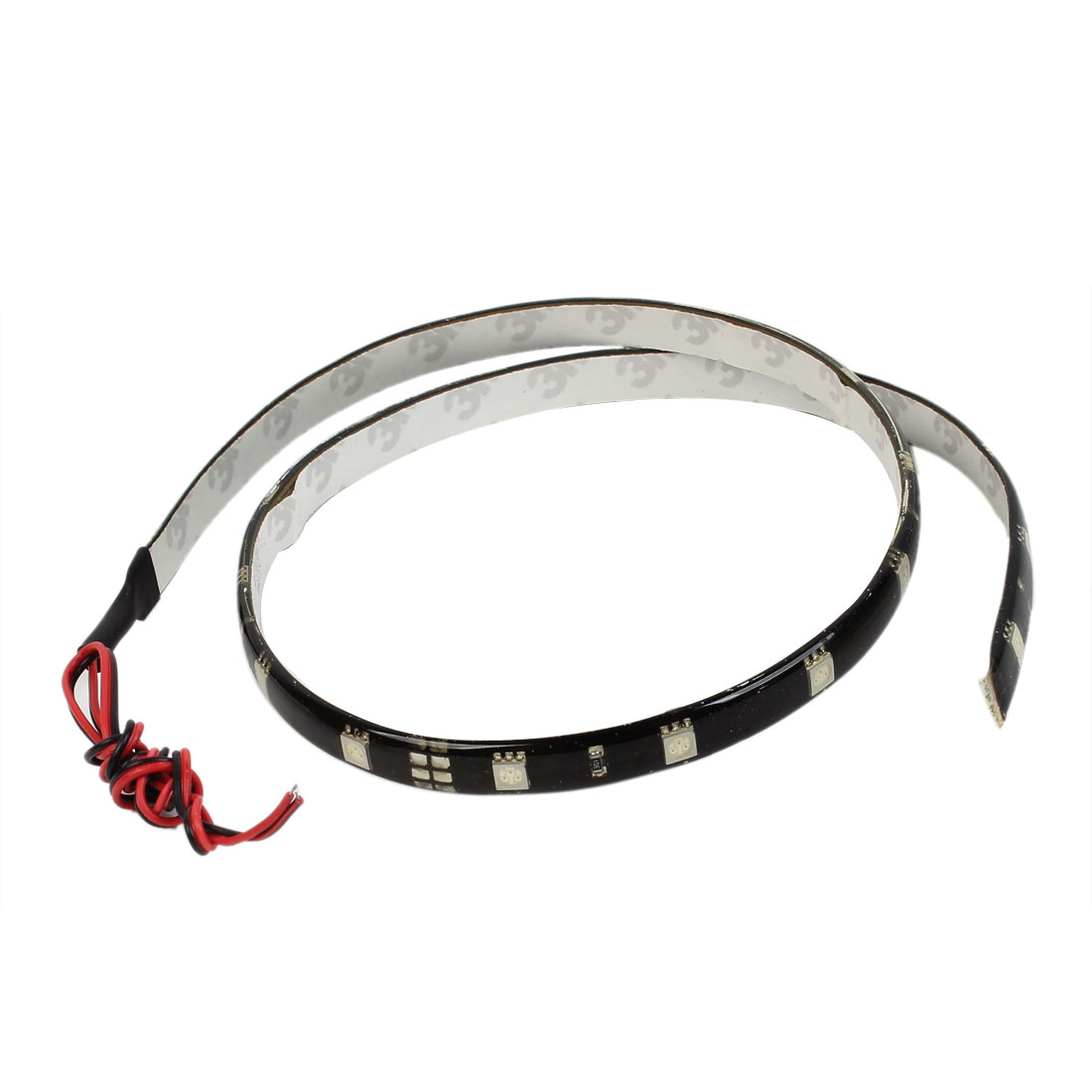 Auto Car Adhesive Tape Red 24 SMD Flexible Decor LED Strip 60cm