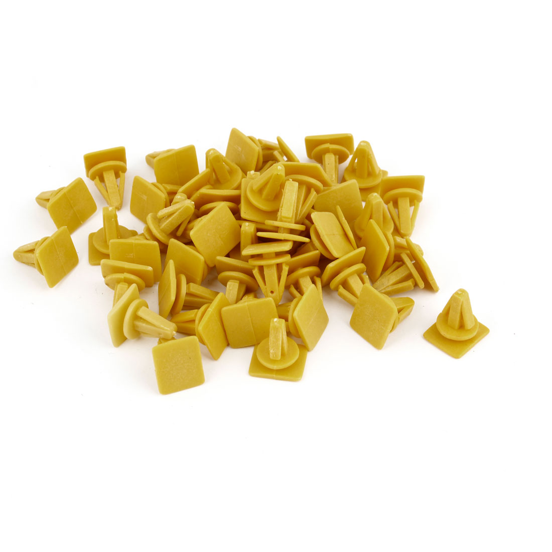 Yellow 8mm Hole Vehicle Car Door Plastic Rivet Fastener Trim Panel Retainer Clip 45pcs