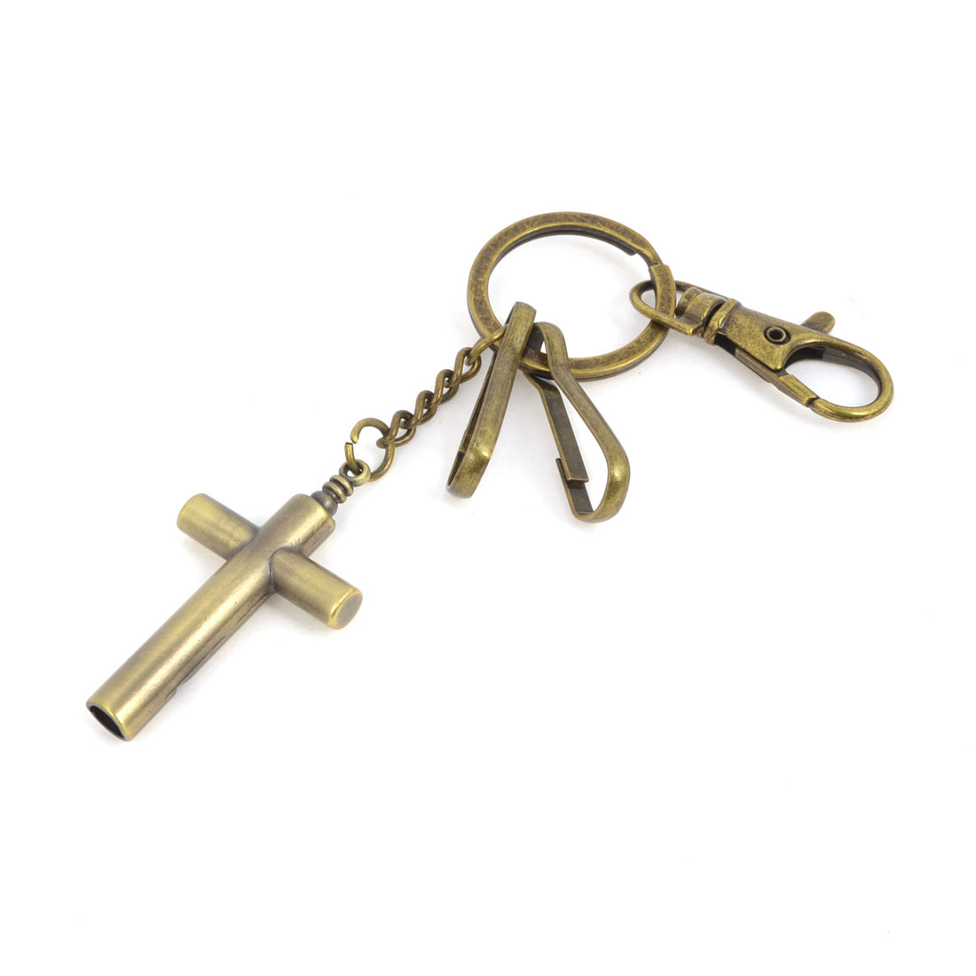 Bronze Tone Cross Key Ring Keychain Keyring Key Holder 14cm Length