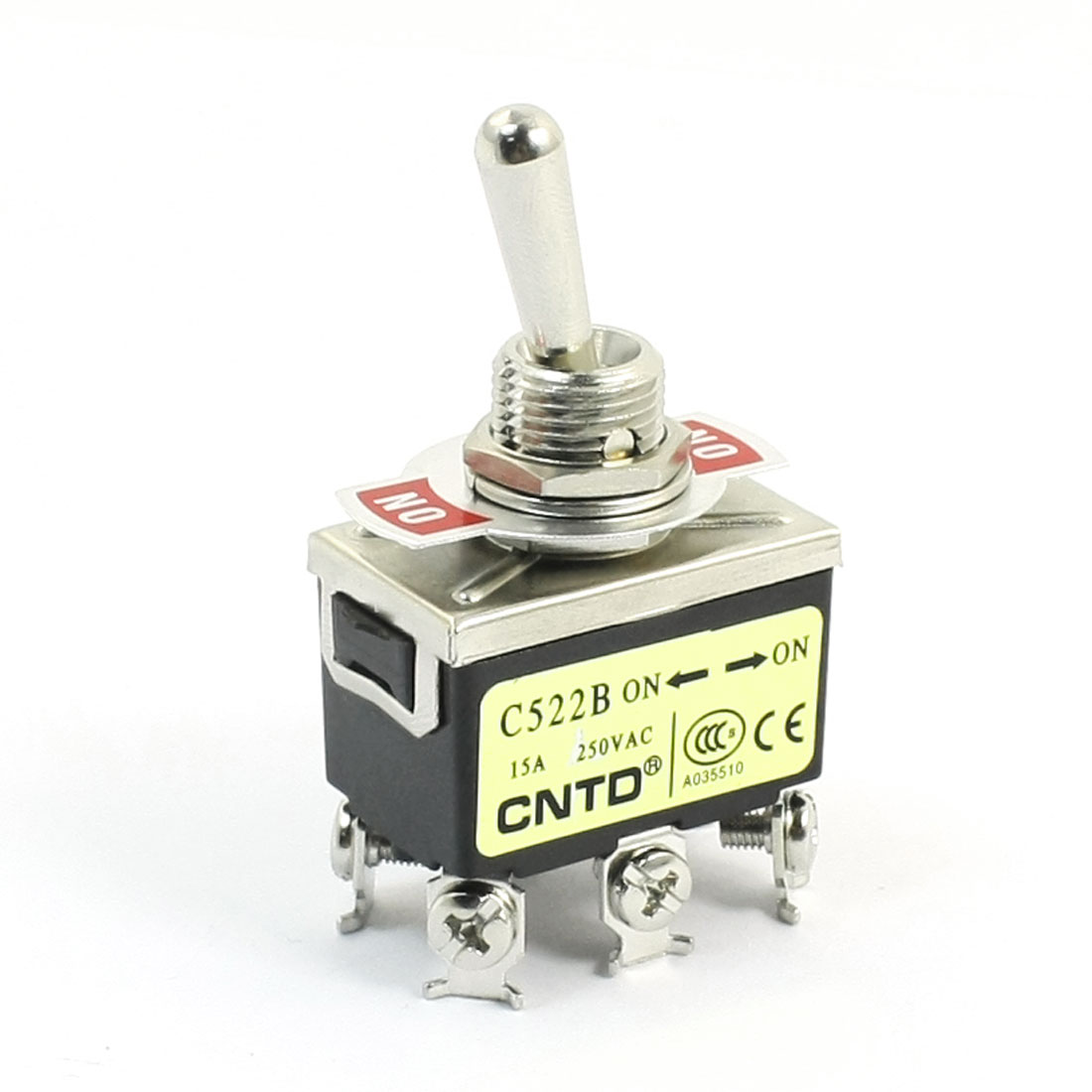 AC250V 15A DPDT 2 Positions 6 Screw Terminals Toggle Switch for Switching Light