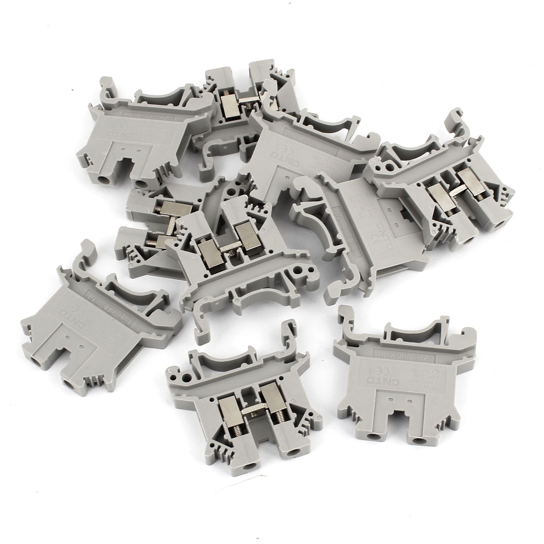10 Pcs 800V 32A UK2.5B Type 2.5mm2 Screw Contact Terminal Block Connector