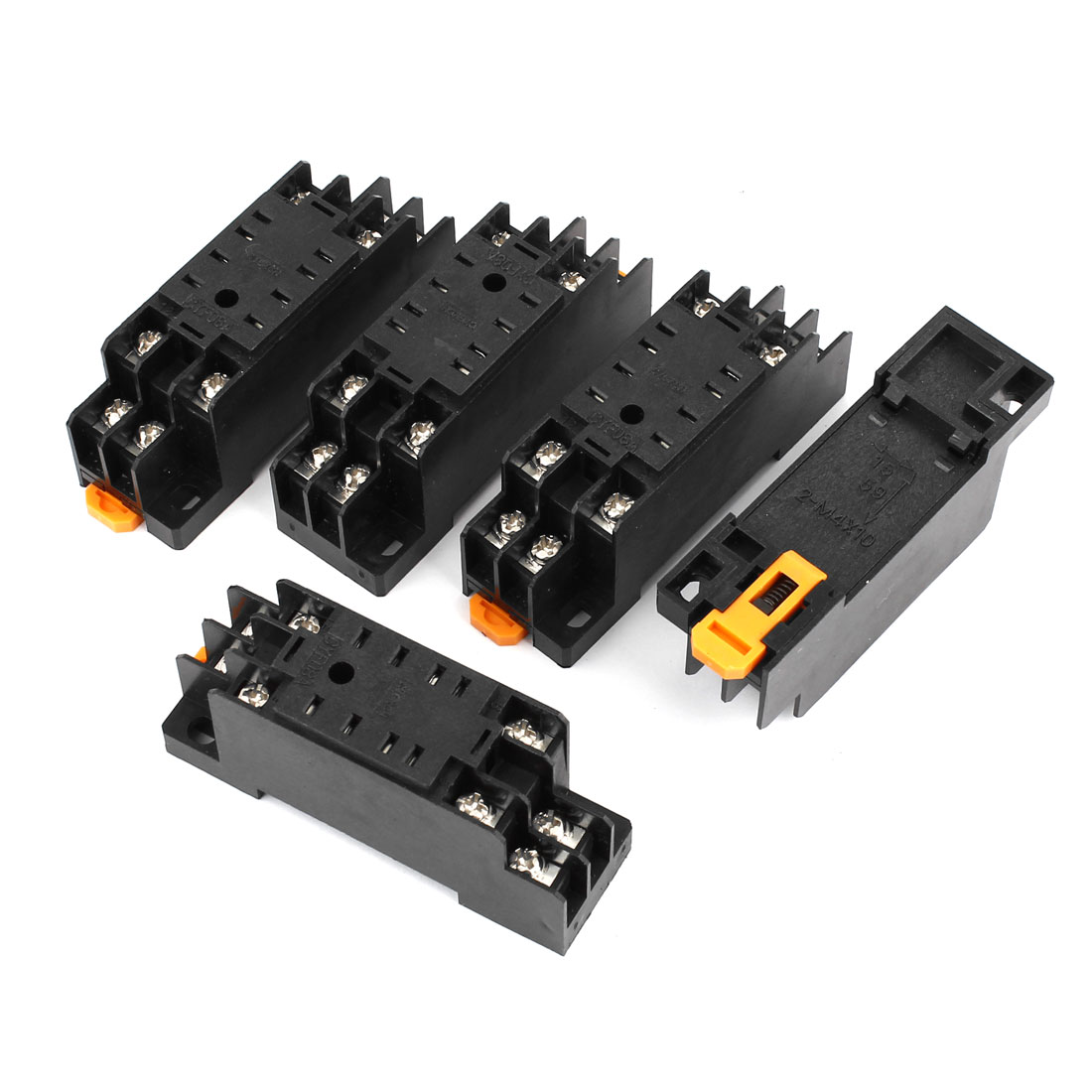 5pcs PF083A 8 Pins Screw Terminals Power Relay Socket Base for JTX-2C MK2P-I