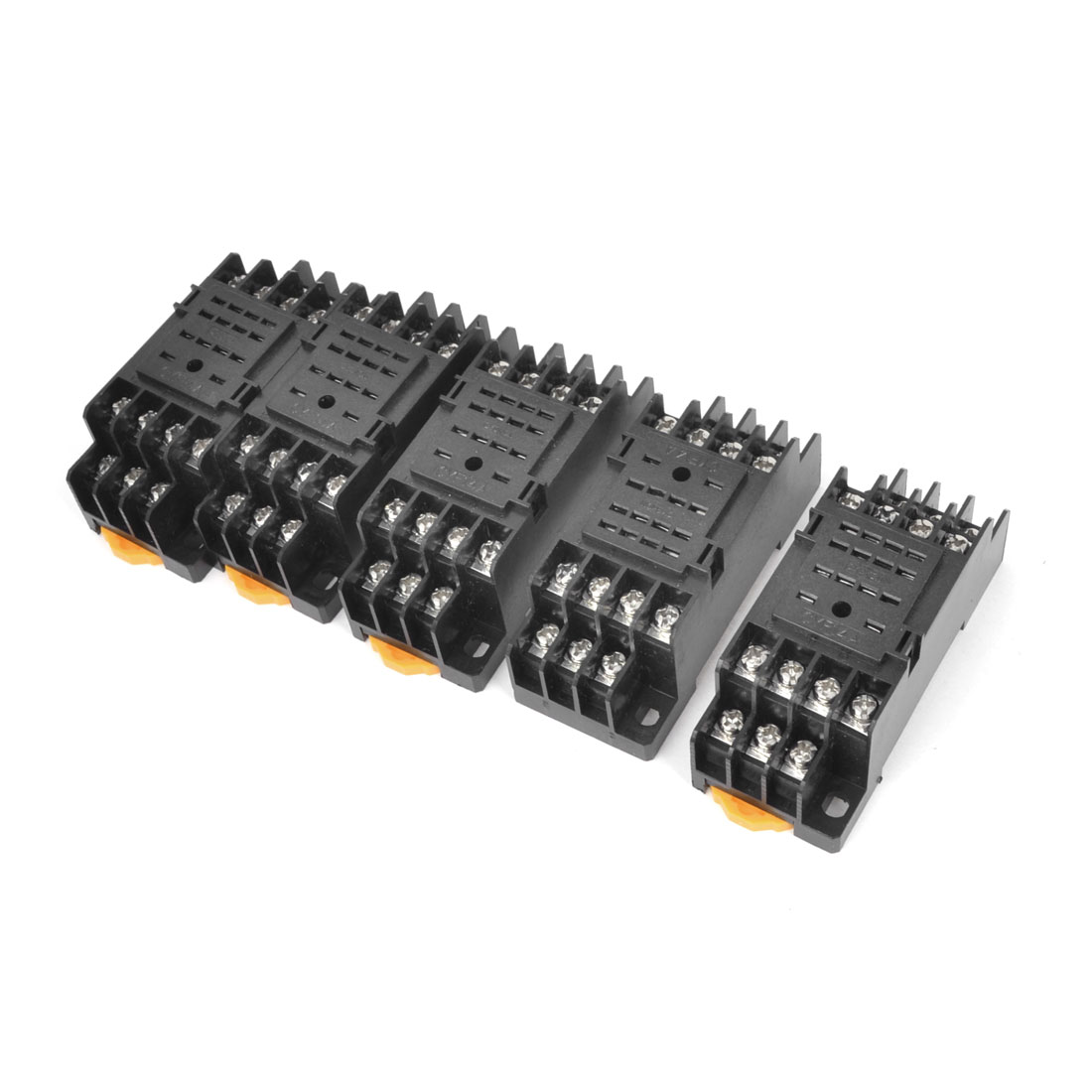 Repairing PYF14A 14Pins 35mm Mounting Rail Relay Socket Base 5PCS for HH54P