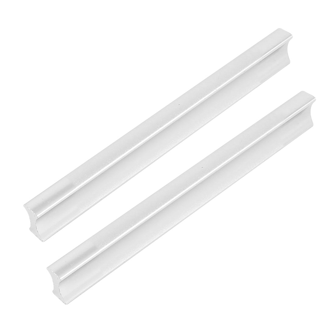 "Drawer Replacement Part 5.2"" Length Finger Pull Handle Silver Tone 2 Pcs"
