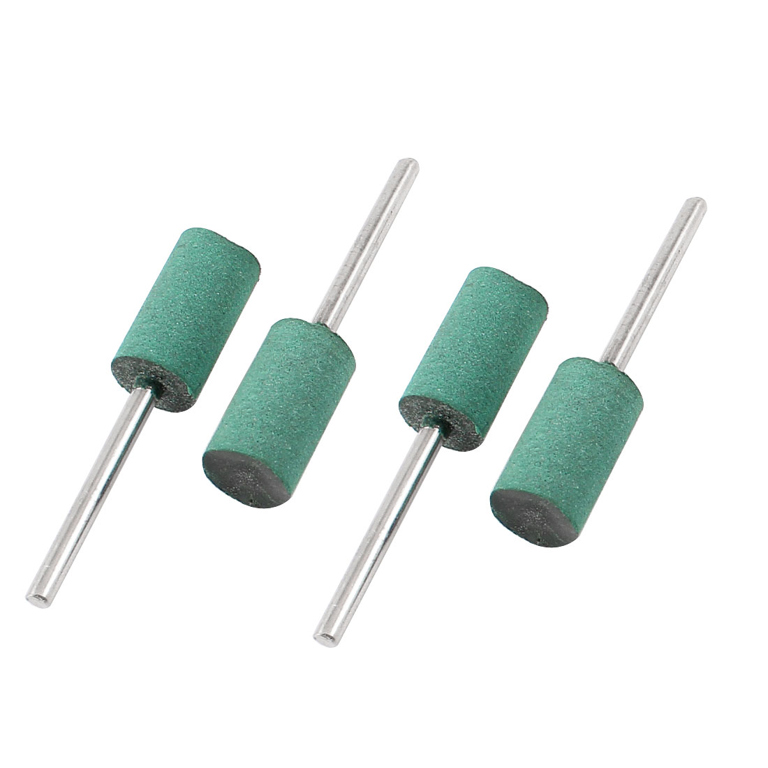 4 Pcs 10mm x 19mm Cylindrical Shape 3mm Shank Abrasive Rubber Mounted Point