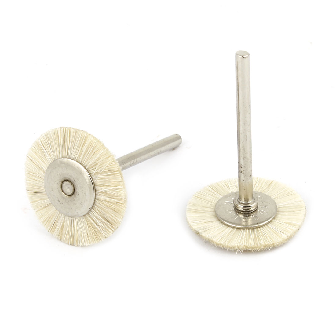 2 Pcs Replacement 25mm Dia White Nylon Brush Polishing Wheel Polishers for Rotary Tool