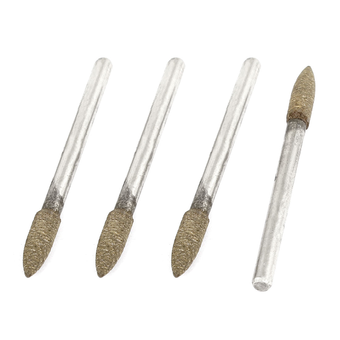 4Pcs 3mm x 4mm Alloy Shank Abrasive Sanding Polishing Mounted Grinding Point Sharpening Tool