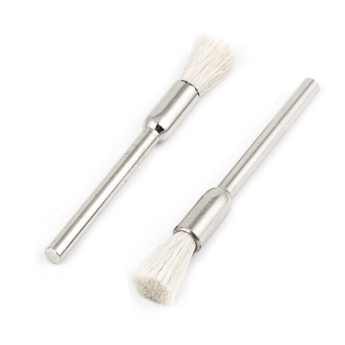 2Pcs 15mm Dia Pen Shaped White Nylon Brush Polishing Wheel Polishers for Rotary Tool