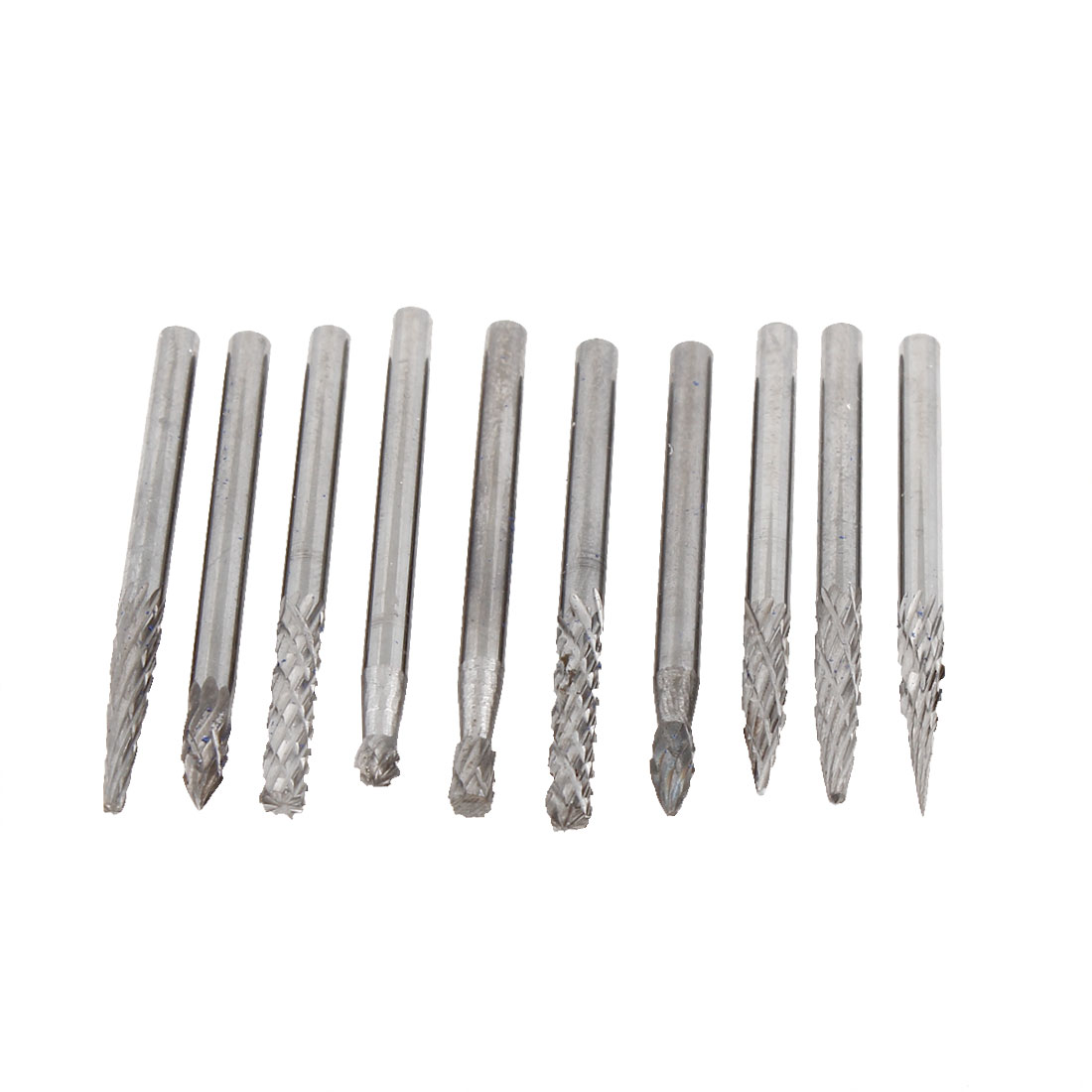 Alloy Coated Needle Taper Round Tip 3mm x 3mm Grinding Bits 10 in 1