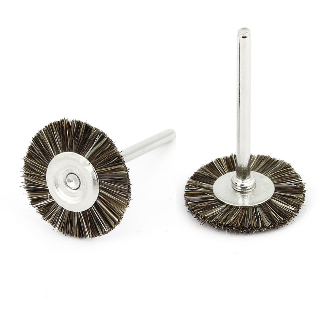 2 Pcs Replacement 25mm Dia Brown Nylon Brush Polishing Wheel Polishers for Rotary Tool
