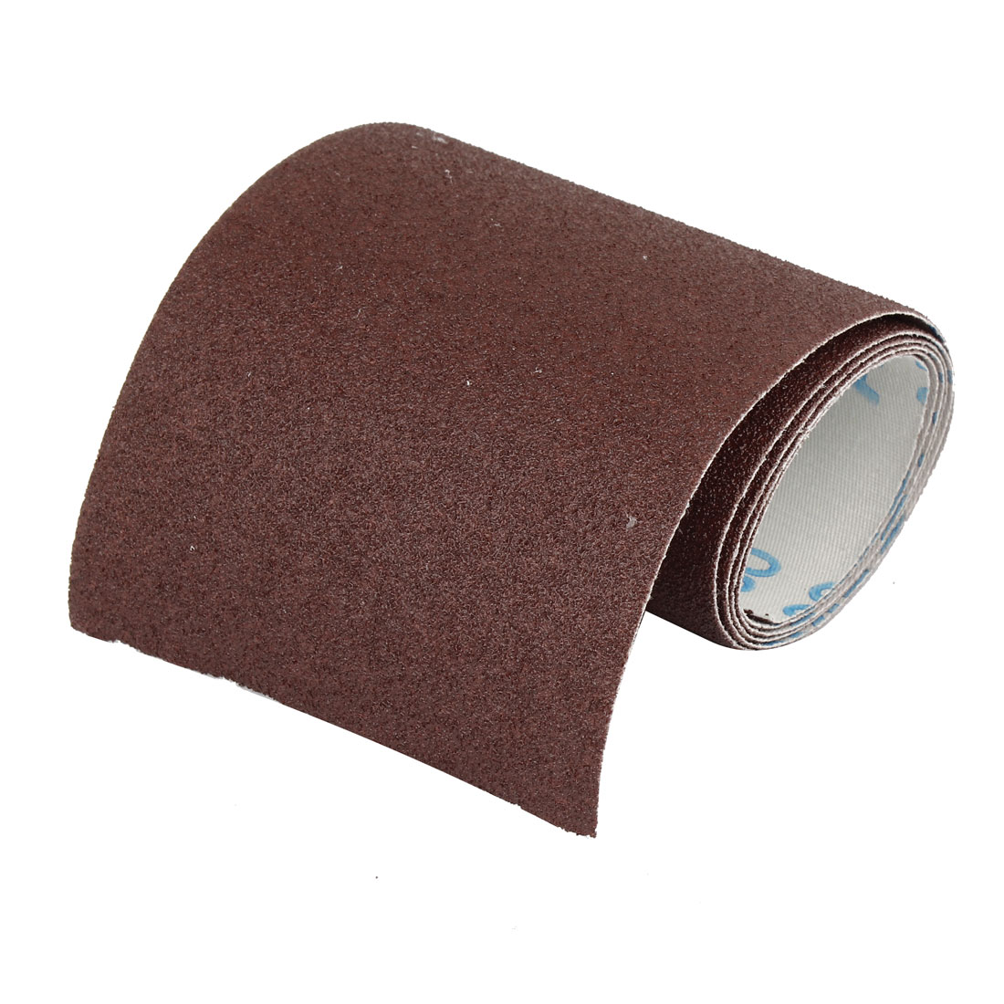100cm x 10cm 80 Grit Abrasive Sheet Sanding Sandpaper Buffing Tool Dark Brown