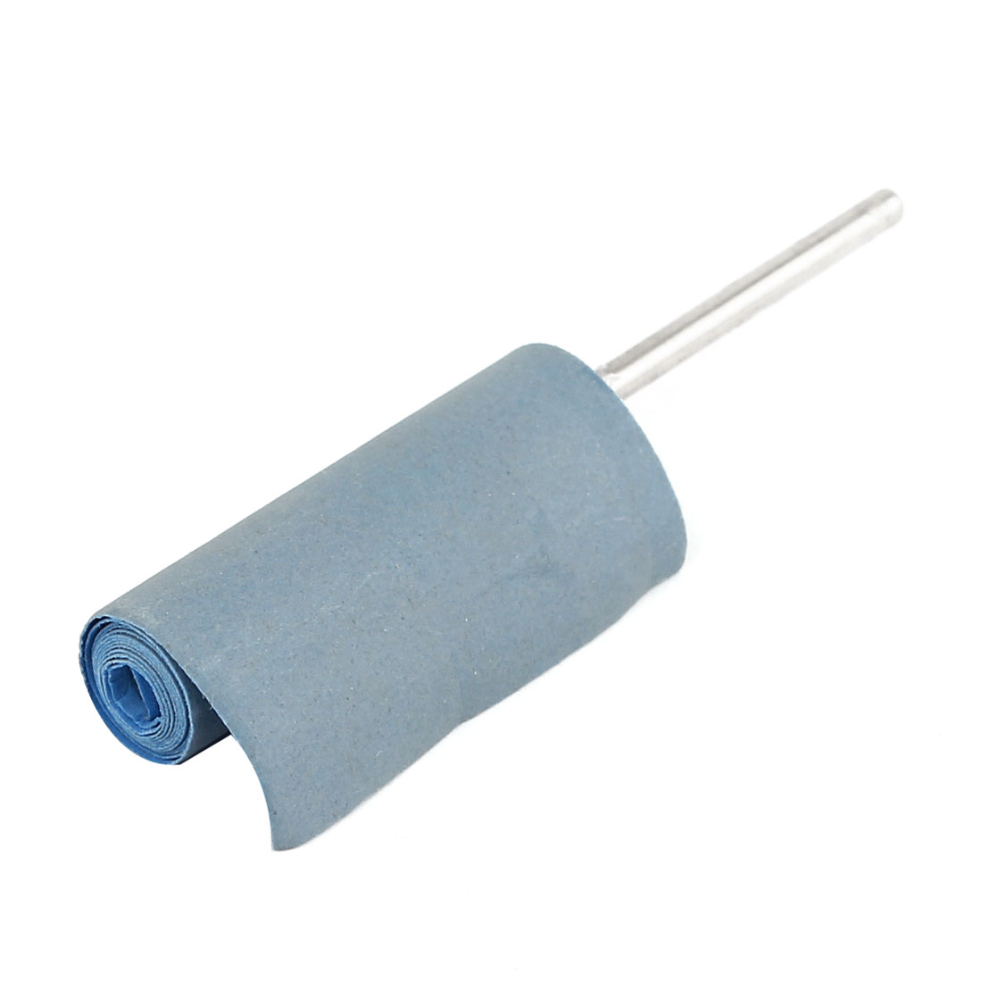 2.35mm 2000 Grit Abrasive Cloth Grinding Heads Silver Tone Light Blue for Rotary Tool