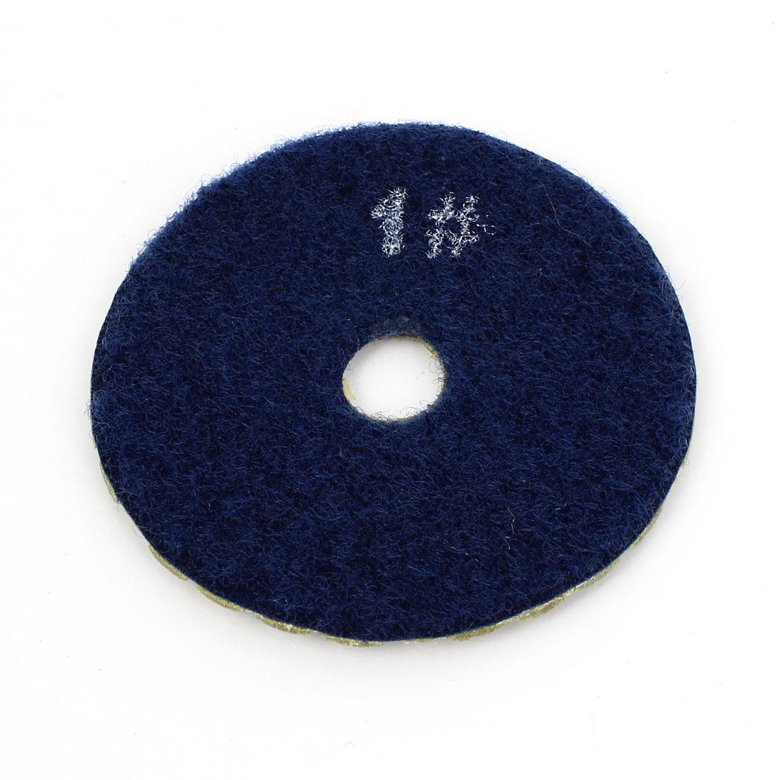"3"" Diameter 4mm Thickness 50 Grit Diamond Dry Polishing Pad Khaki Blue"