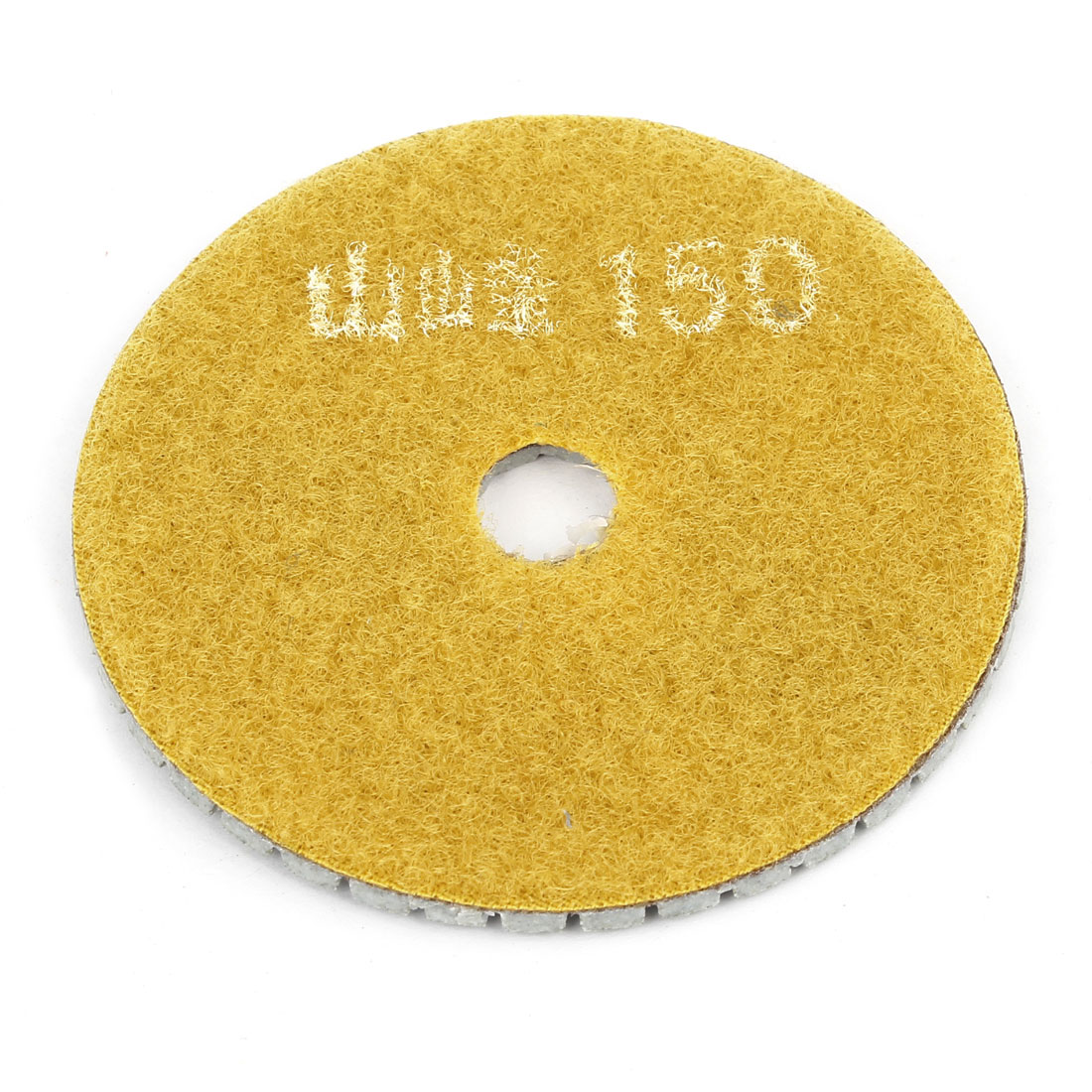 "Yellow Gray Grit 150 3"" Diameter Tile Stone Polisher Grinder Marble Polishing Pad"