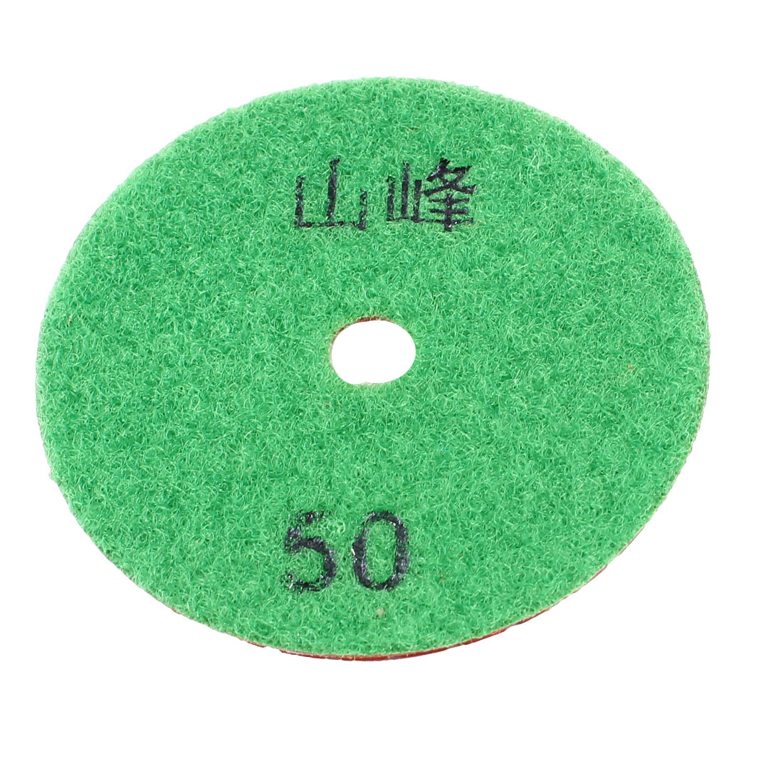 8cm Diameter 5mm Thickness 50 Grit Diamond Polishing Pad Green Red