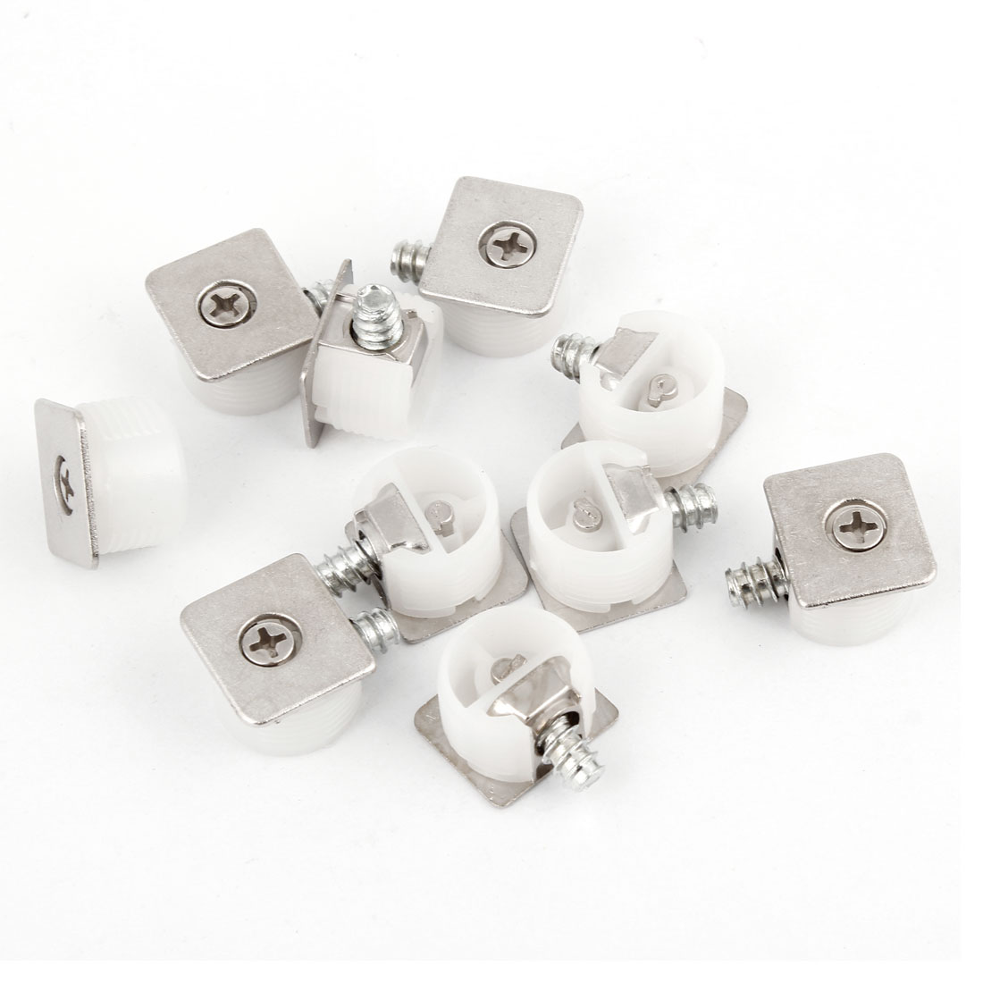 10 Pcs Concealed Mounting Board Plastic Bracket Shelf Support White