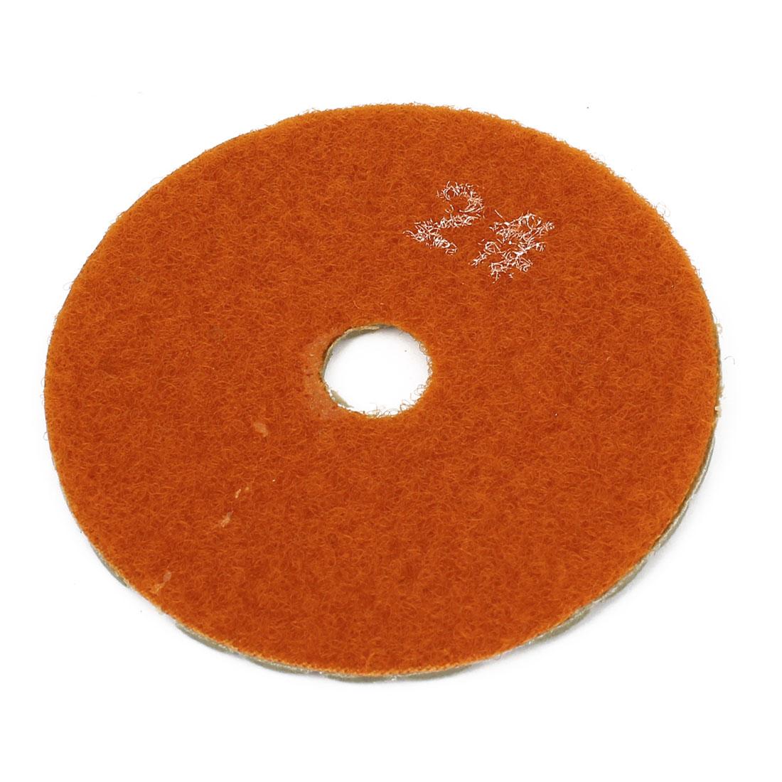 "Diamond Dry Polishing Pad Grit 150 3"" Diameter Khaki Orange for Grinding"