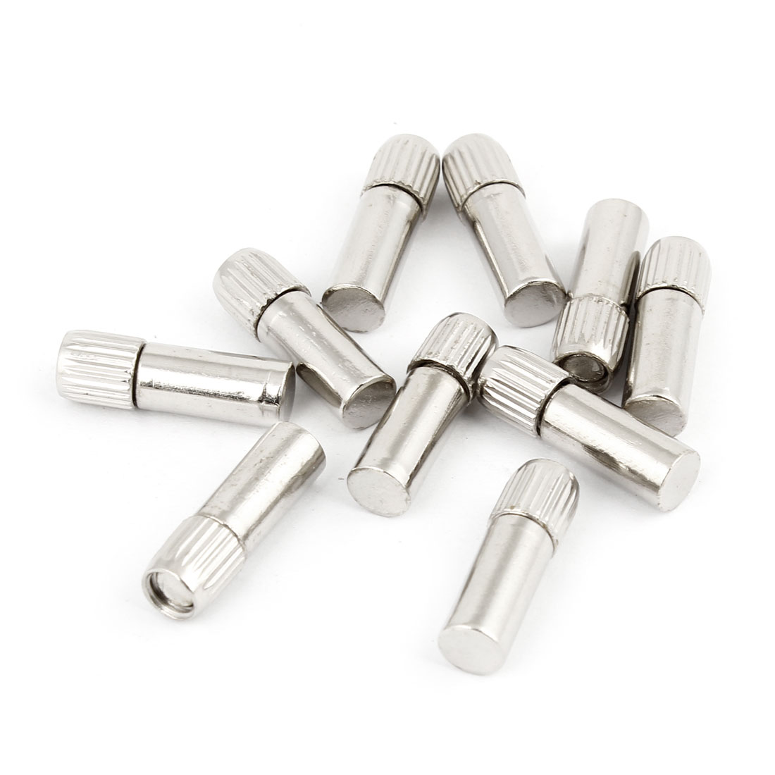 Glass Shelf Studs Pegs Holder Threaded 20mm Length 10 Pcs