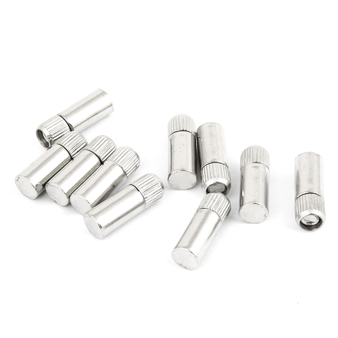 Glass Shelf Studs Pegs Holder Threaded Silver Tone 10 Pcs