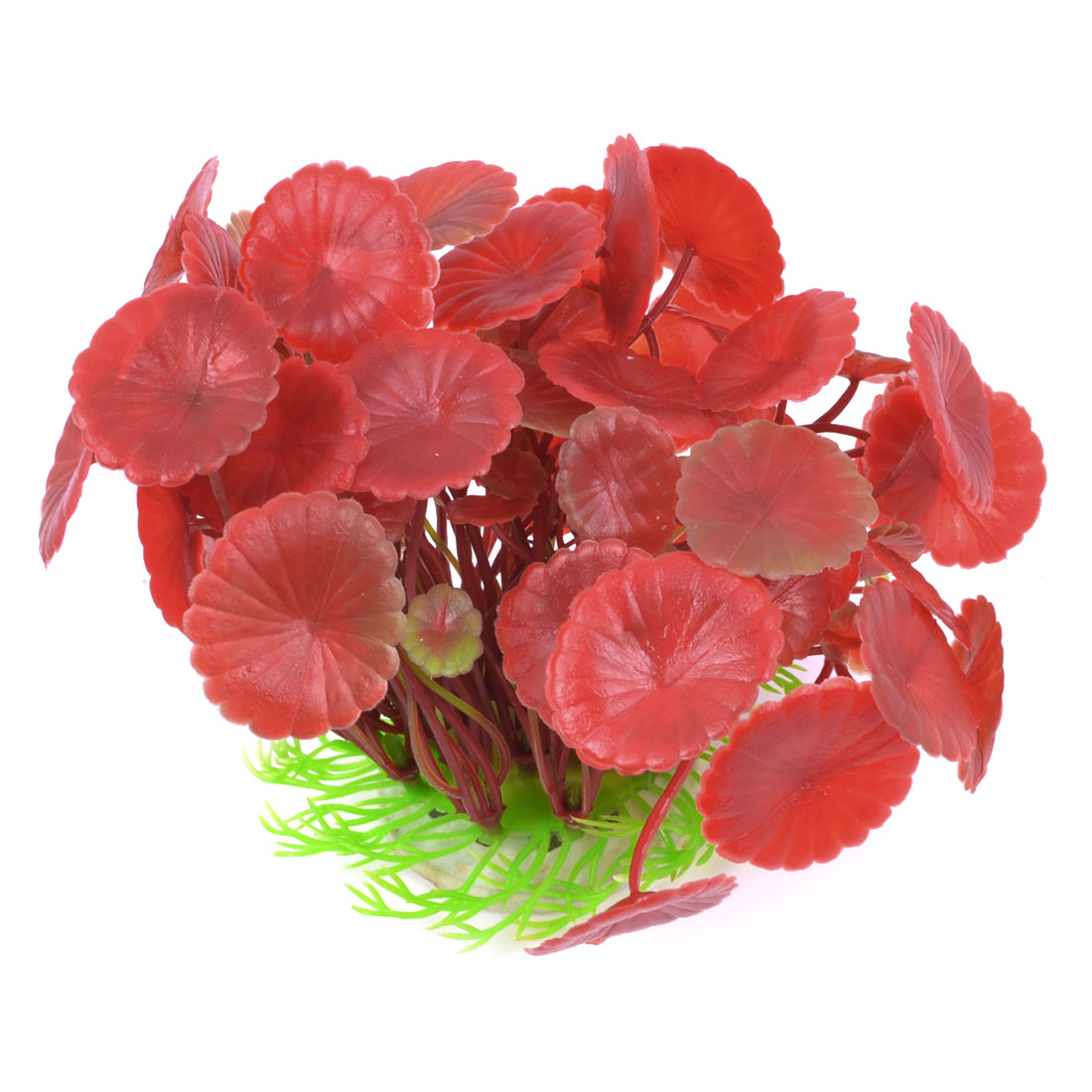 Fish Tank Red Manmade Simulation Aquatic Plant Decor 6.3""